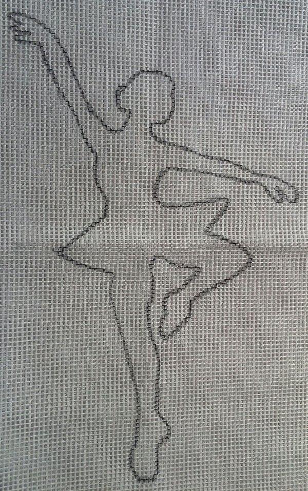 Talagarça Bailarina 60x80cm