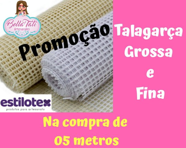 Talagarça Grossa ou Fina 1,40cm (5 metros)