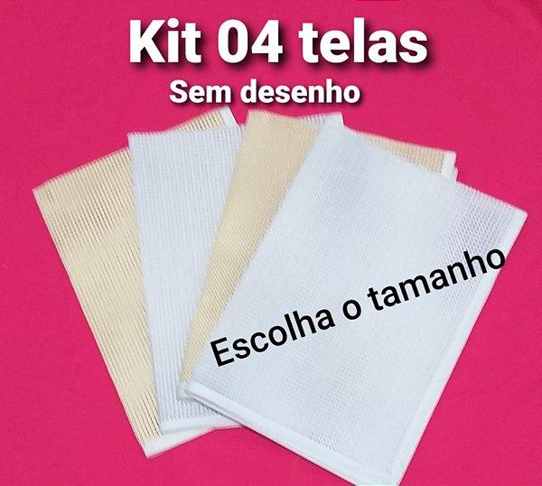 Kit 04 Talagarça sem desenho (escolha o tamanho)