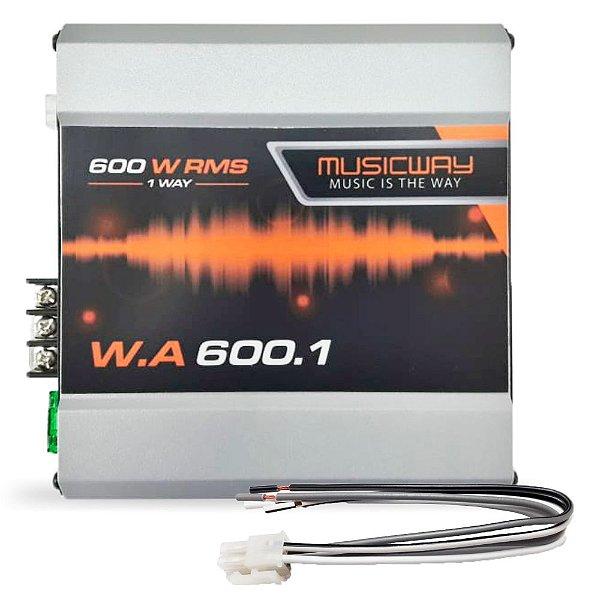 Módulo Amplif Music Way W.A 600.1 600W RMS 1 Canal 1ohm