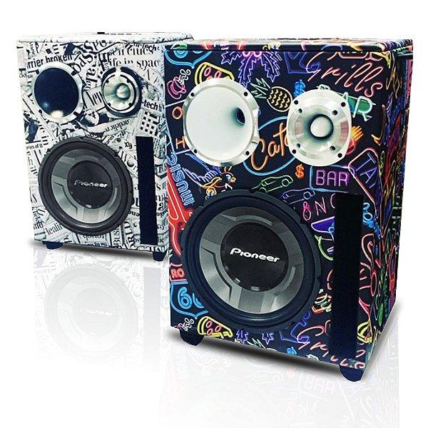 Caixa Trio Som Residencial Bob Pioneer 1000w Bluetooth Bivolt