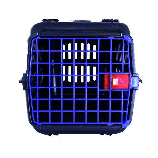 N3 Caixa De Transporte Alça Cachorro Gatos PRETA/PORTA AZUL