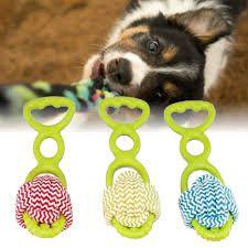 Brinquedo Cães Cachorro Puxador Borracha Mordedor 3 Cores