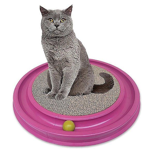 Brinquedo Arranhador Estimulador Gato C/ Bolinha - Cat Play*