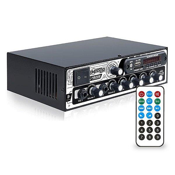 Receiver Bluetooth Boog Mx2000 Bt Usb Sd 300w Rms 2 Canais