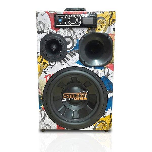 Caixa Som Trio Residencia Bluetooth 440w Rms Bivolt Portátil