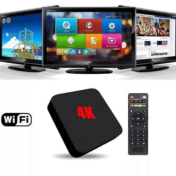 Aparelho Smart Tv Box Conversor Hdmi Full Hd 4K Netflix
