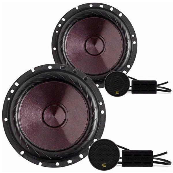 Kit 2 Vias Bravox Cs60 P 120w Rms 4 Ohms Mid Bass Tweeter