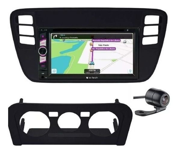 Central Multimidia 2 Din Vw UP TSI 14/16 Dvd Bt Usb +Camera