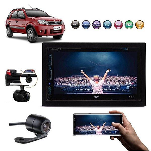 Central Multimídia DVD Fox Polo Golf Ecosport Fiesta+ Camera