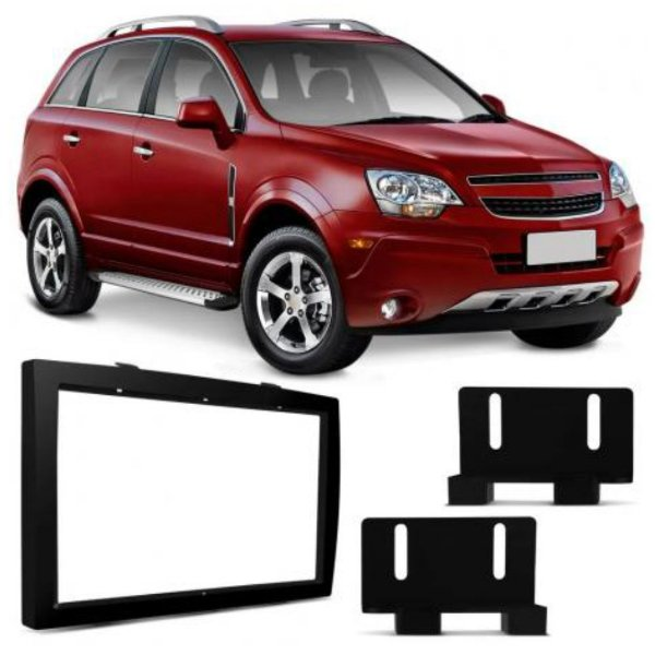 Moldura Painel Dvd 2 Din Chevrolet Captiva 2008 A 2016
