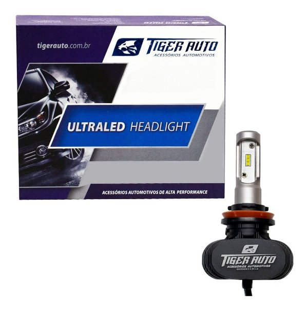 Kit Lâmpada Ultra Led Headlight Automotiva 6000k H16