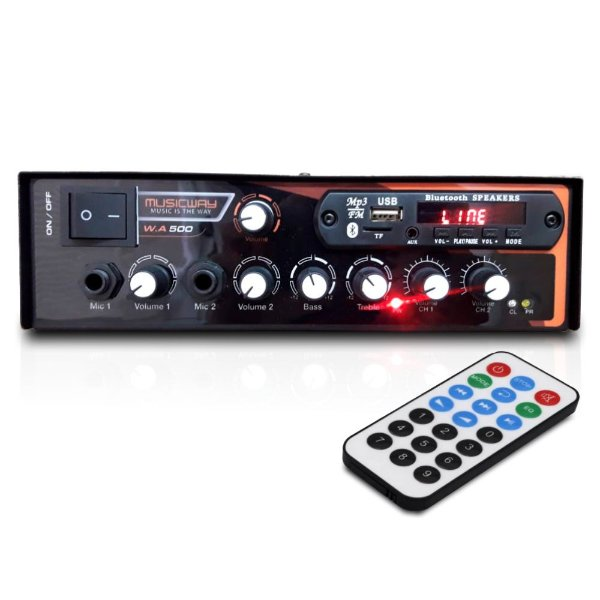 Receiver Amplificador Bluetooth Music Way W.a 500 Usb Fm