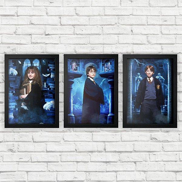 Kit Quadros Decorativos Harry Potter e a Pedra Filosofal