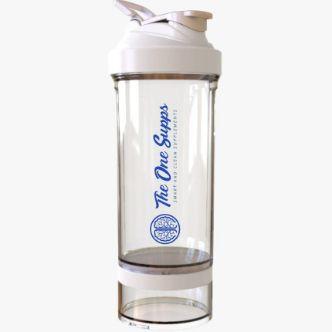 Coqueteleira Premium TheOneSupps Transparente 700ml + Compartimento Extra