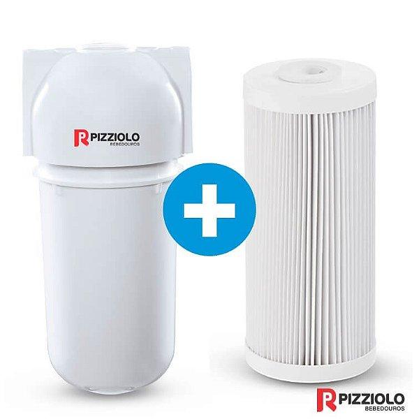 "Kit Filtro Purificador De Água 200 BR  + Elemento Filtrante Plissado 7"" Pizziolo"
