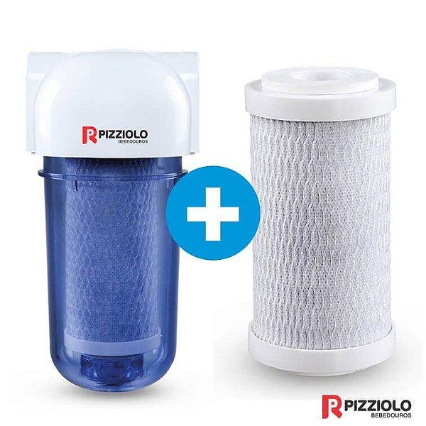 "Kit Filtro Purificador De Água 200 TR  + Elemento Filtrante Carbon Block  7"" Pizziolo"