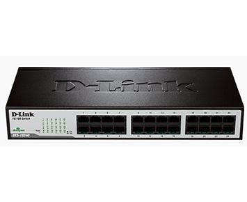 SWITCH D-LINK 24 PORTAS FAST ETHERNET NÃO GERENCIAVEL (DES-1024D BR).  O switch não gerenciável DES-1024D 10/100Mbps foi desenhado para aumentar o rendimento de grupos de trabalho em uma rede LAN e proporcionar uma grande flexibilidade.