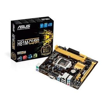 Placa Mãe Asus H81M-CS/BR_1Placa-mãe H81 micro-ATX com alta estabilidade e durabilidade, com UEFI BIOS fácil de usar e aplicativo de ajuste ASUS AI Suite 3.