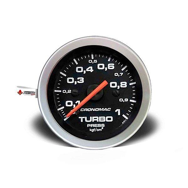 Manômetro Pressão de Turbo 1kg linha Sport 52mm
