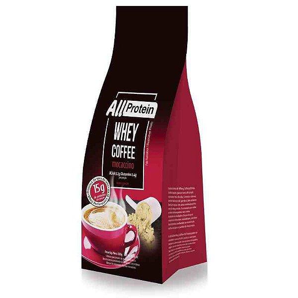 Pacote de 300g de Whey Coffe - Café proteico MOCACCINO 15g de proteina de whey protein com BCAA e Glutamina por dose - All Protein