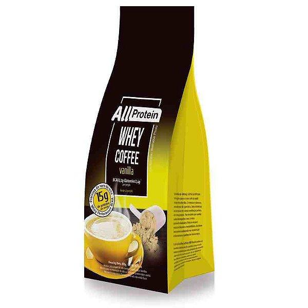 Pacote de 300g de Whey Coffe - Café proteico VANILLA 15g de proteina de whey protein com BCAA e Glutamina por dose - All Protein