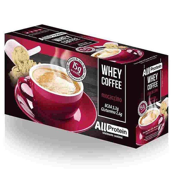 Whey Coffe - Café proteico mocaccino 15g de proteina de whey protein com BCAA e Glutamina - All Protein 25 unidades de 25g - 625g