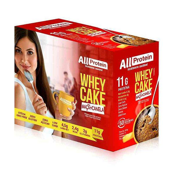Whey CAKE de MAÇÃ com CANELA com 11g de proteína All Protein - 12 Saches de 30g - 360g
