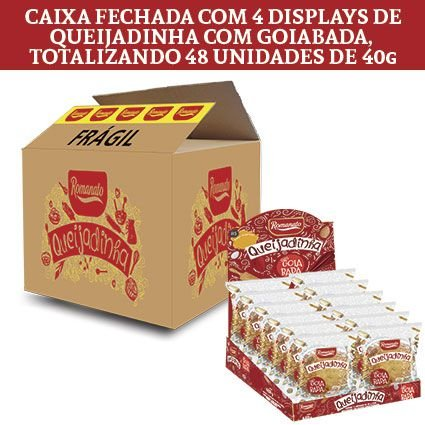 Caixa Fechada: 48 unidades de Queijadinha com Goiabada (40g cada)