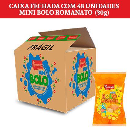 Caixa Fechada: 48 unidades de Mini Bolo Romanato (30g)