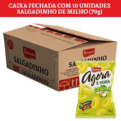 Caixa Fechada: 10 unidades de Salgadinho de Milho Agora (70g)