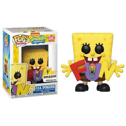 Funko Pop Spongebob Squarepants - Spongebob & Plankton with F.U.N Song Letters Amazon Prime Exclusive #679