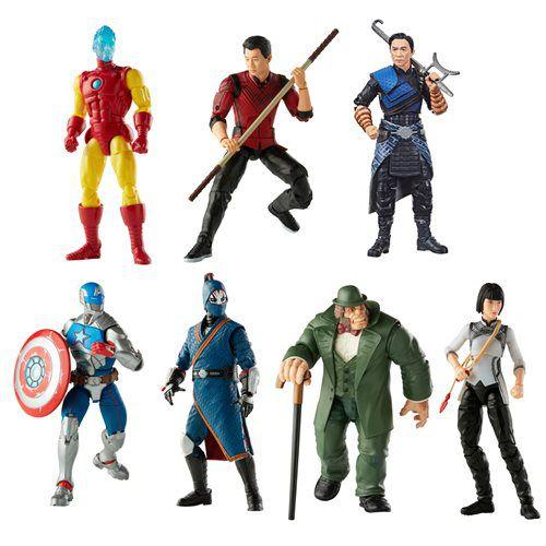 Marvel Legends Shang-Chi Wave 1 Set com 6 Figuras (Marvel's Mr. Hyde BAF)