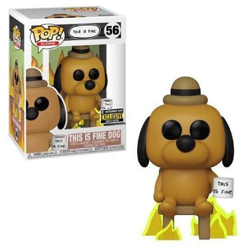 Funko Pop This is Fine Dog Entertainment Earth Exclusive