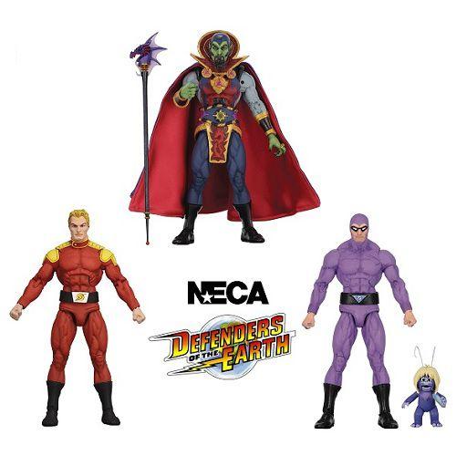 NECA Defenders of the Earth Series 1 Set com 3 Figuras