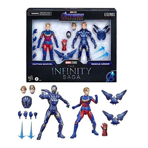 Marvel Legends Series Captain Marvel and Rescue Armor - The Infinity Saga 2-Pack (Amazon Exclusive)