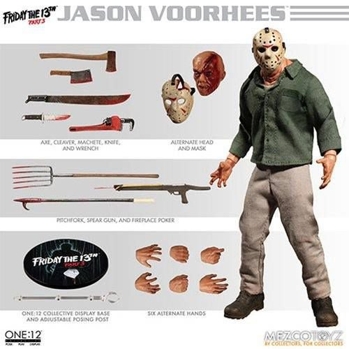 Mezco Friday The 13th Part 3 One:12 Collective Jason Voorhees