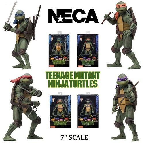 NECA Teenage Mutant Ninja Turtles 1990 Movie Action Figures Gamestop Exclusive - Set com 4