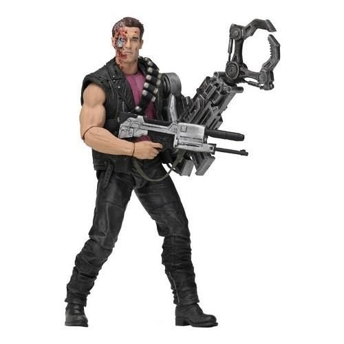"NECA - Terminator 2 - 7"" Scale Action Figure - Kenner Tribute - Power Arm T-800"