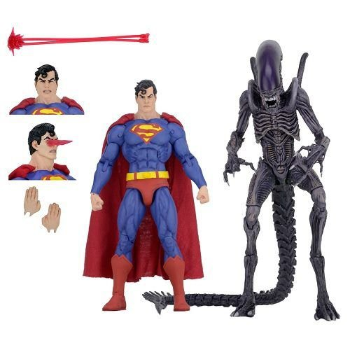 "NECA SDCC 2019 Exclusive - DC Comics/Dark Horse Comics - 7"" Scale Action Figures – Superman vs Aliens 2-Pack"
