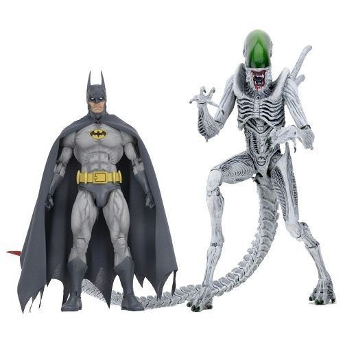 """NECA NYCC 2019 Batman/Aliens – 7"""" Scale Action Figures – Batman and """"Joker"""" Alien 2-Pack"""