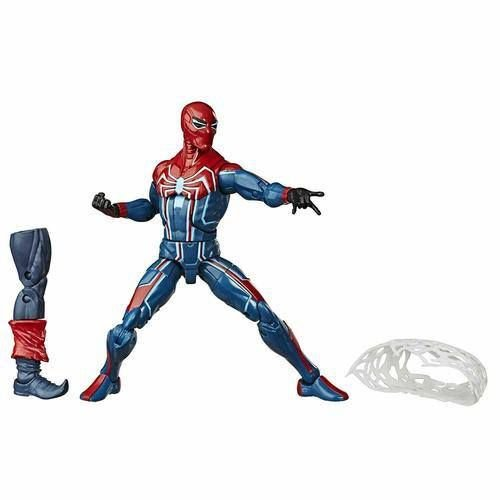 Marvel Legends Spider-Man (2018 Video Game) Velocity Suit Spider-Man (Demogoblin BAF)