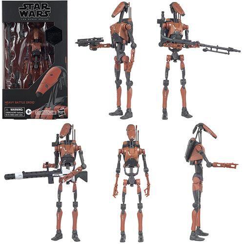 Star Wars The Black Series 6: Battlefront II Heavy Battle Droid Gamestop Exclusivo