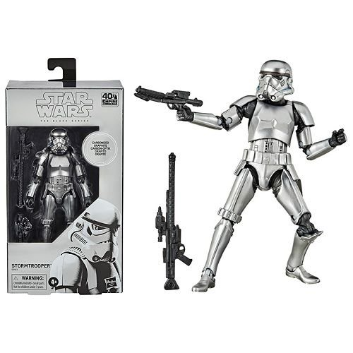 Star Wars The Black Series 6 Carbonized Collection Stormtrooper Figure