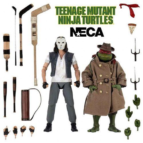 NECA Teenage Mutant Ninja Turtles Casey Jones and Raphael In Disguise - 7 Inch Scale Action Figure 2-Pack (Walmart Exclusive)