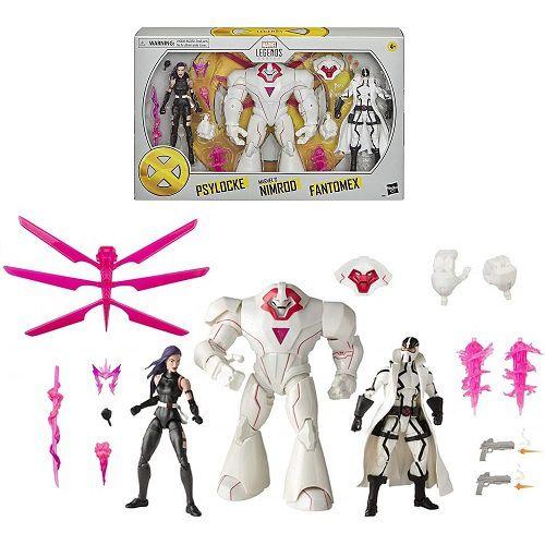 Marvel Legends Series X-Men Psylocke, Marvel's Nimrod, and Fantomex Toys (Amazon Exclusive)