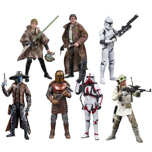 Star Wars The Black Series 6 Wave 27 set com 8 personagens