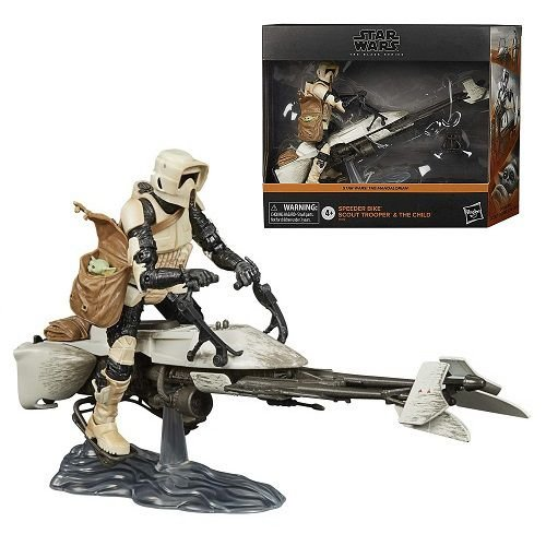 Star Wars The Black Series Deluxe Speeder Bike Scout Trooper & The Child Amazon Exclusive