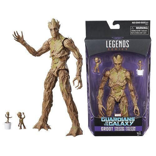 Marvel Legends Guardians of the Galaxy Groot Evolution Action Figures Set - Exclusive