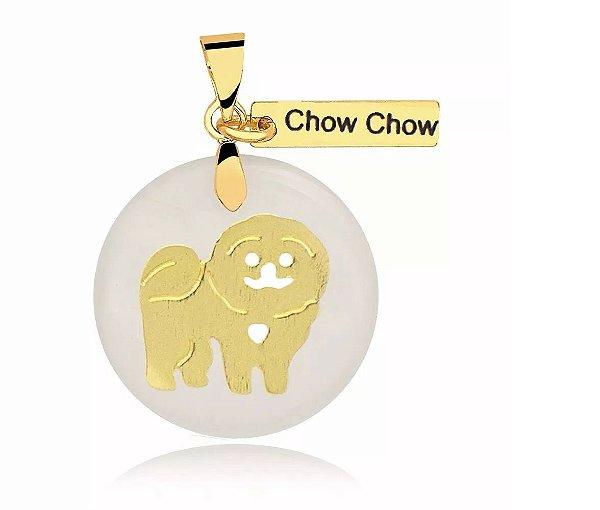 Pingente madrepérola Chow Chow